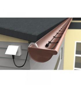 Dachrinnenheizung 30 Meter - Fallrohrheizung - 120 W - steckerfertig